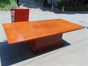 Large custom dining table table lacquered mahogany,