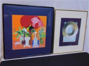 2 paintings, Jean Tori & Adrian Murphy, gouache &