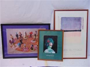 """Art lot, posters, """"Lettuce Romance""""; """"Ontani"""" & """"Mark"""