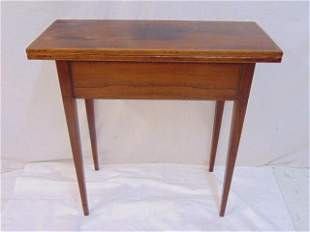 Hepplewhite Style Rosewood Inlaid Lift-Top Game Table,