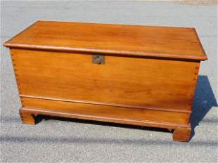 Chippendale Carved Pine Lift-Top Blanket Chest,
