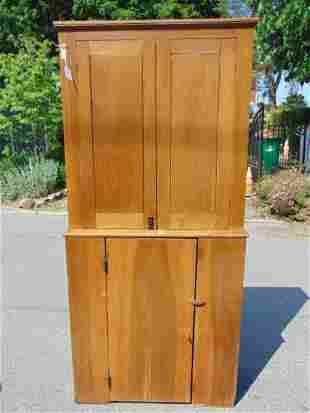 Country Butternut Step-Back Cupboard, c.1800. Height