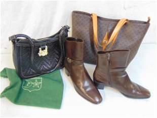 Barry Kieselstein Cord handbag, & LaTour & Ferragamo