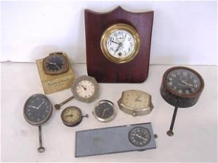 9 Vintage Wind Car Clocks, Phinney Walker, Juniper,