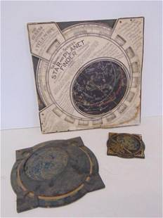 """3 Star Chart Wheel Finder, 5"""" Hammett's Planisphere-"""