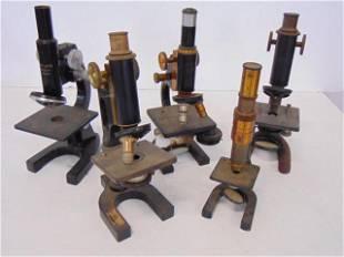 5 Microscope Grouping, Spencer, Leitz Welter, Bausch &