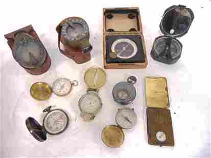10, Hand Held Compass Collection, m2, Sun Watch, U.S.