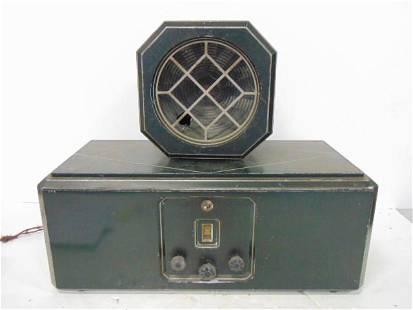 Eveready AC Model 2, Radio and Speaker, Cast aluminum