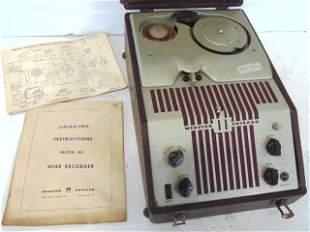 Wire Recorder, Webster, Chicago, Model 80, Original