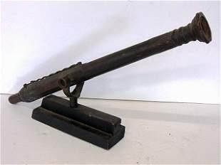 """Cannon, Lantaka, Rail, 29 """" long, bore, patinated"""