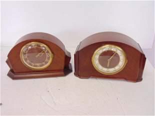 2 Seth Thomas Mantel Clocks, 1939 Console 6W, wind, 8
