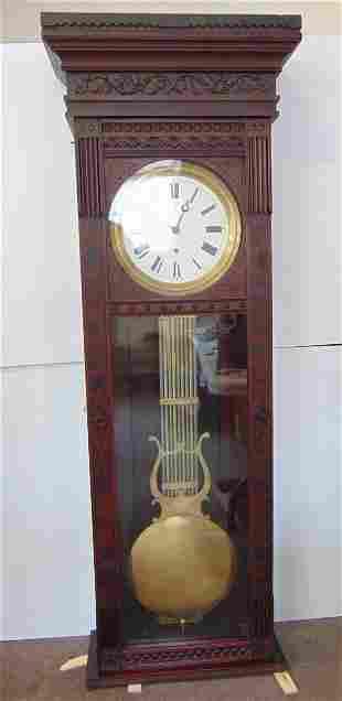 Clock, Waterbury No. 7 Pinwheel Jewelers Regulator,