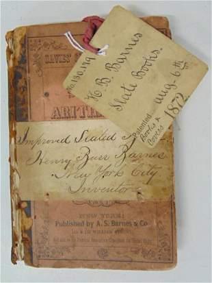 U.S. Original Patent Model, Aug 6th 1872, Slate Books,