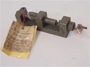 U.S. Original Patent Model, Sept 24th 1867, Mach(ine)