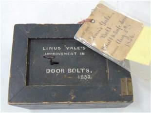 U.S. Original Patent Model, Aug 5th 1856, Bolt Vault &