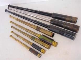 8 Spyglass Lot, Large-1) Black over brass, Marked