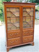 George III library cabinet, English late 18th Century,