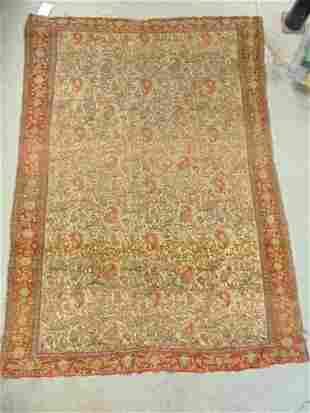 """Antique Persian carpet, carpet is 69.5"""" by 49"""""""