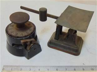 Fairbanks postal scale & Wesley Mfg. Co Indelible Check