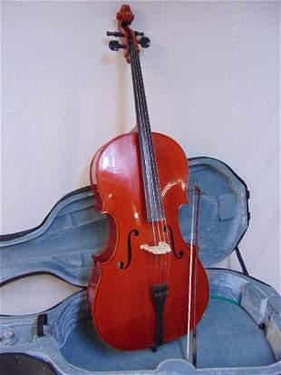 Scherl & Roth cello in hard case, model R204E4, serial
