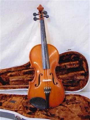 "Andrew Schroetter violin in case, body is 13.25"", 1983"