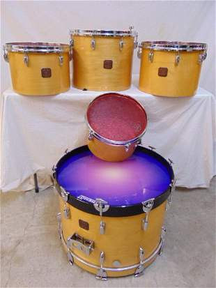 "Gretsch drum set, 6 piece set, includes large 23"" drum;"