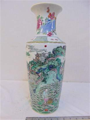 Chinese porcelain vase, decorated with landscapes,