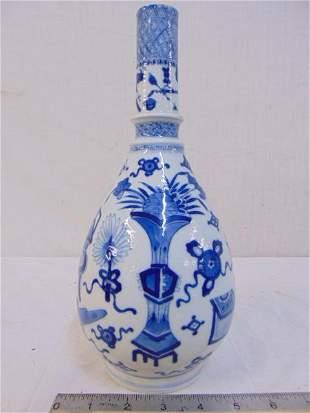 Chinese porcelain vase, blue & white, various designs