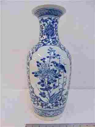 Chinese porcelain vase in blue & white, Delft style,