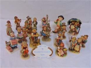 "17 Hummel figurines, ""Out Of Danger"", various titles,"