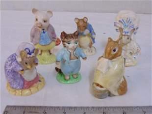 6 porcelain Beatrix Potter figurines, Royal Albert,