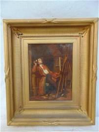 "Painting, Lemuel Wilmarth, ""Invoking the Muse"", self"