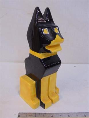 Memphis style dog bank, Italian made in black & yellow,