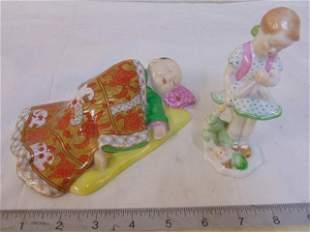 Herend porcelain figures, Chinese sleeping boy under