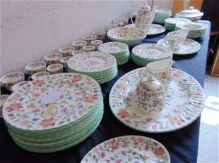 "Set Minton dinnerware, ""Haddon Hall"", floral decorated,"