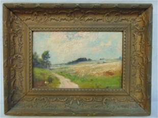 Painting, landscape, Edward Gay, oil on canvas showing