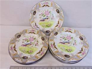 "Set Coalport dinner plates, English porcelain, 10.5"","