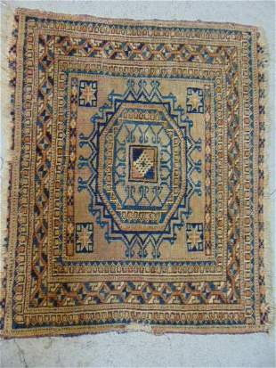 """Small scatter mat, rug, Caucasian, brown, 22.75"""" by 18"""""""