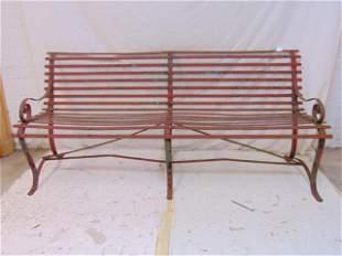 Iron bench, Stewart Iron Works, Cincinnati, Ohio, old