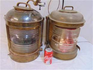 2 ships lanterns, electrified, converted to lamps,