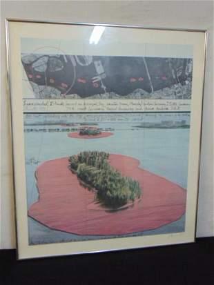 "Signed print, Christo Vladimirov Javacheff, ""Surrounded"