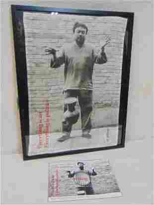 "Ai Weiwei tea towel, ""Dropping a Han Dynasty Urn (from"