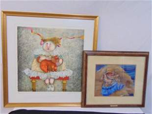 2 prints, Boulanger and Theroux, includes lithograph