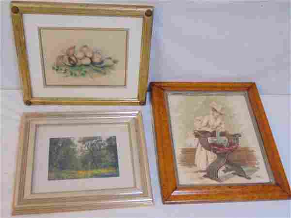 Art lot, small painting, oil landscape, watercolor,