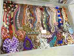 Large lot of custom jewelry including beaded & hard