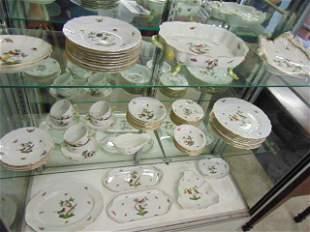 "Large lot Herend ""Rothschild"" porcelain dinnerware,"