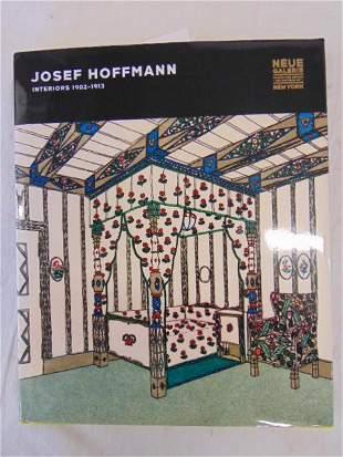 """Book, Interior Design of Josef Hoffman, """"Josef Hoffmann"""