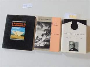 3 Books, famous Architects such as Oscar Niemeyer