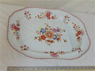 Spode ironstone Well & Tree meat platter, floral