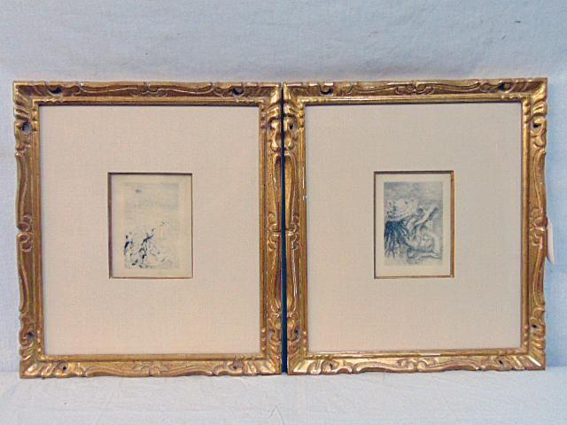 """Pair Renoir etchings, """"Le Chapeau Epingle"""" & """"Sur la"""